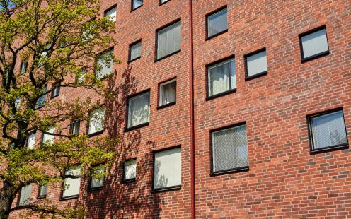 Student appartments in Stockholm, Facing Brick, Tuohi Silea, Roed Schatterad M87