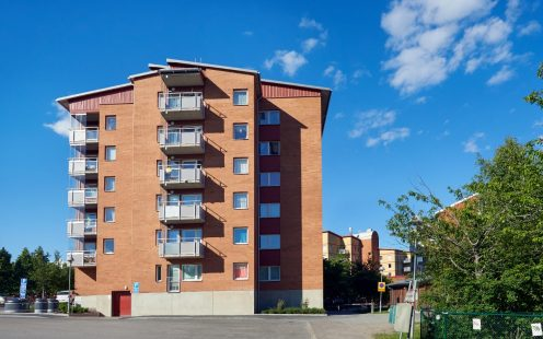 Appartment building i Marsta, Facing Brick, Rosé Spanad M87